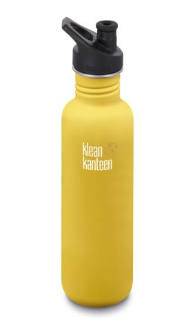 Klean Kanteen Vattenflaska Classic Sportkork 800 ml Lemon Curry