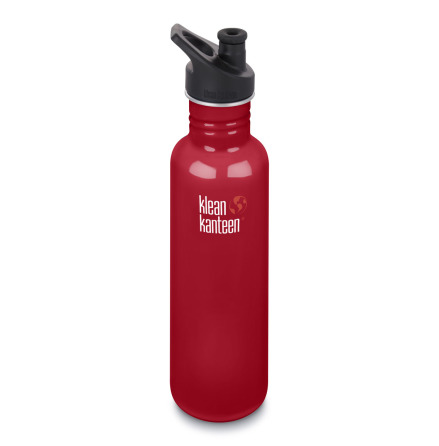 Klean Kanteen Vattenflaska Classic Sportkork 800 ml Mineral red