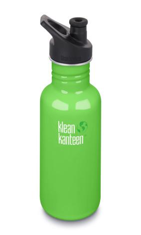 Klean Kanteen Vattenflaska Classic Sportkork 532 ml spring green