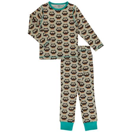 Maxomorra Pyjamas Set LS Owl