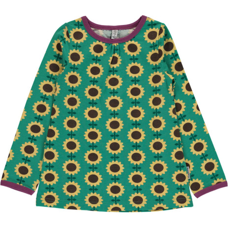 Maxomorra Top A-line LS Sunflower