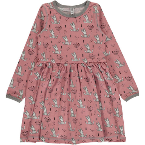 Maxomorra Spin Dress LS Sweet Bunny