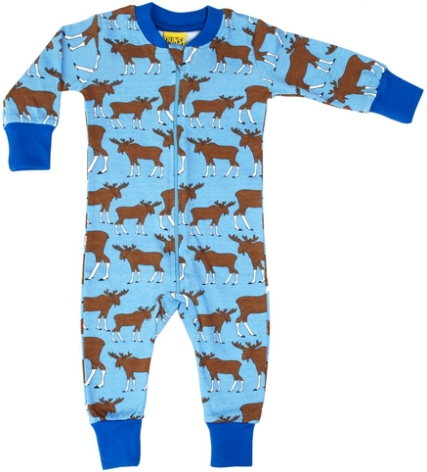 Duns Pyjamas Moose blue