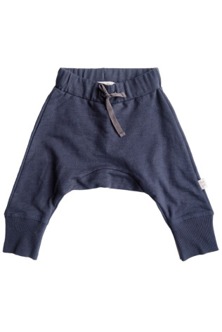 By Heritage Lias trousers Solid Navy Blue