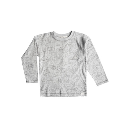 By Heritage Ted longsleeve t-shirt print warm grey