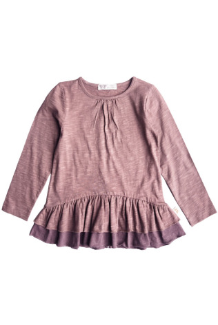 By Heritage Livia Tunic solid dark plum