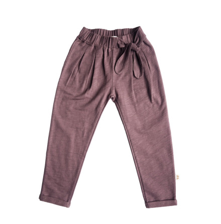 By Heritage Alma trousers solid dark plum