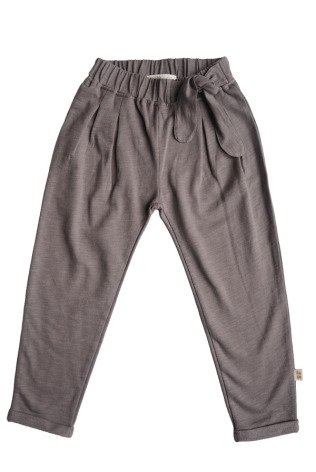 By Heritage Alma trousers solid warm grey