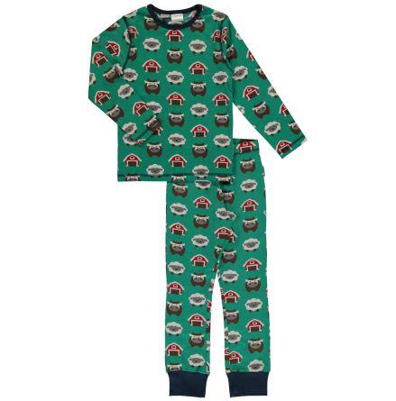 Maxomorra Pyjamas Set LS Farm