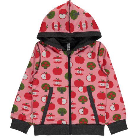 Maxomorra Cardigan Hood Apple