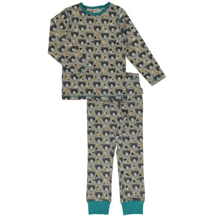 Maxomorra Pyjamas Set LS Grizzlybear