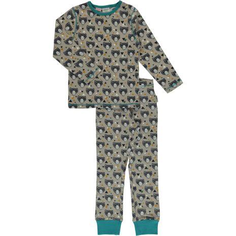 Maxomorra Pyjamas Set LS Grizzlybear