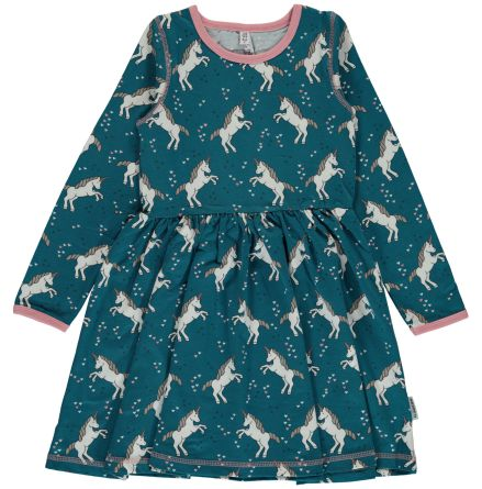 Maxomorra Dress LS spin Unicorn