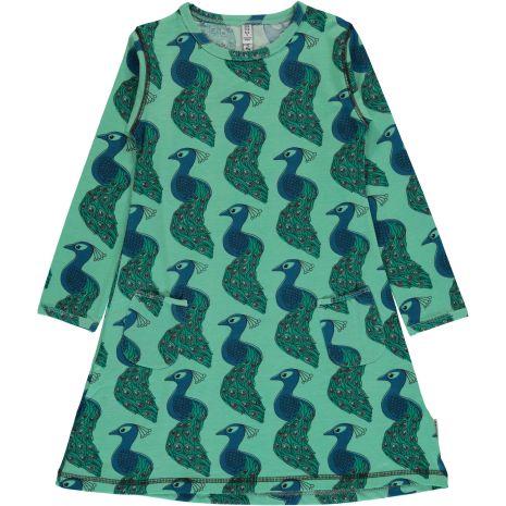 Maxomorra Dress LS peacock