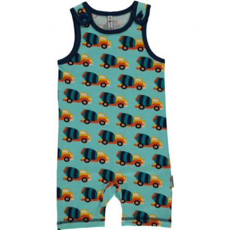 Maxomorra Playsuit Short Cement Truck