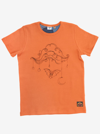 Modeerska Huset T-shirt Bat Cloud