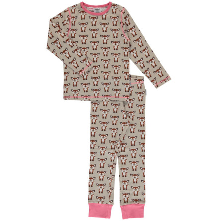 Maxomorra Pyjamas Set LS Fawn