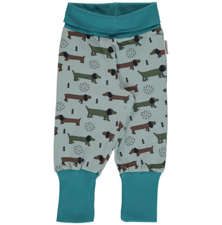 Maxomorra Pants rib Dotted puppy one
