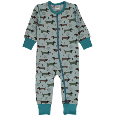 Maxomorra rombersuit Dotted puppy one