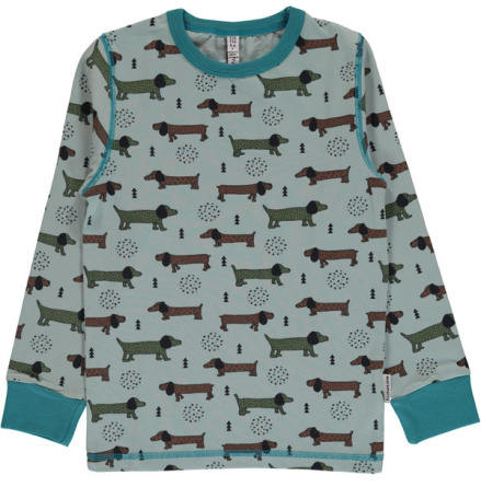 Maxomorra Top LS  Dotted puppy one