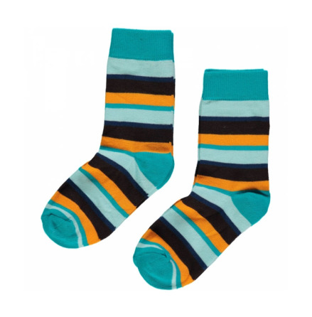 Maxomorra Socks Blue Mix 2-pack