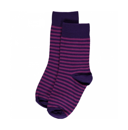 Maxomorra Purple  Stripes Mix 2-pack