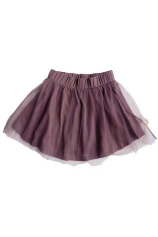 By Heritage Sally Skirt solid dark Plum tulle