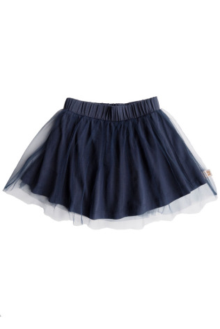By Heritage Sally Skirt solid dark Navy blue