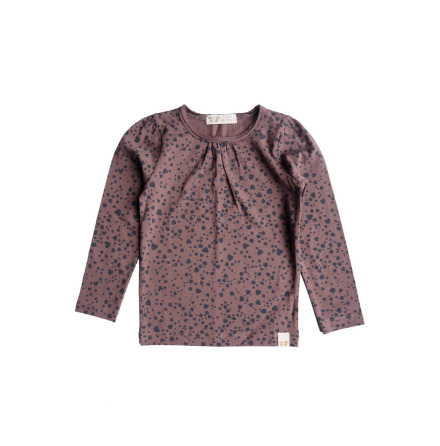 By Heritage Malva Top print dark plum