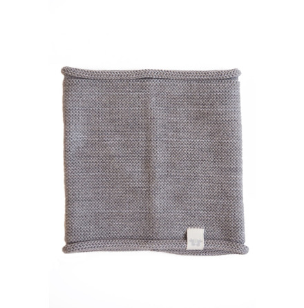 By Heritage Trevor knitted neck tube  grey cotton/merino