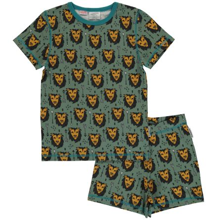 Maxomorra Pyjamas set ss Lion Jungle
