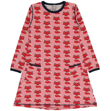 Maxomorra Dress LS fox