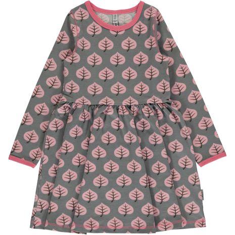Maxomorra Dress spin LS Leaf