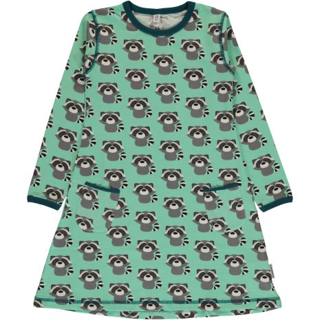 Maxomorra Dress LS Raccoon