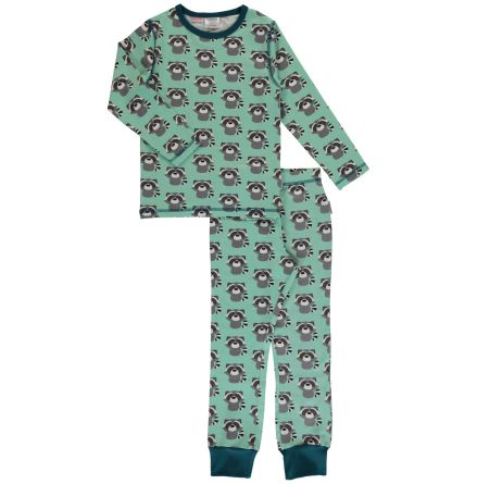 Maxomorra Pyjamas set LS Raccoon