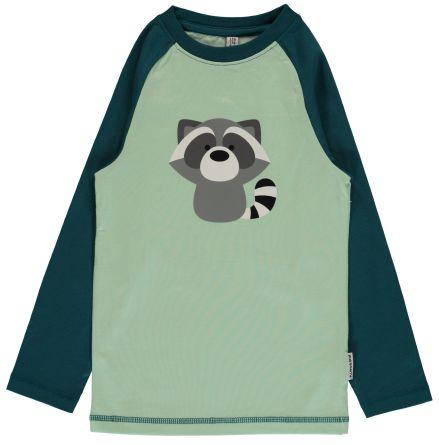 Maxomorra Top LS Print Raccoon