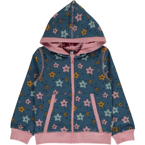 Maxomorra Cardigan Hood Night Sparkle