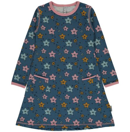 Maxomorra Dress LS Night Sparkle