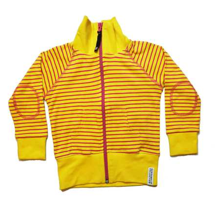 Geggamoja Zip jacket Yello/pink