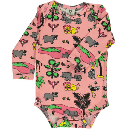 Småfolk Body LS Jungle Pink