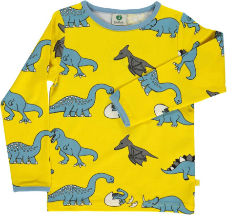 Småfolk T-shirt LS Dino Yellow