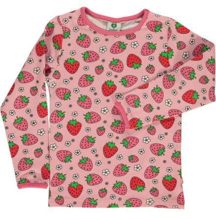 Småfolk T-shirt LS Strawberry Silver