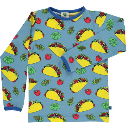 Småfolk T-shirt LS Taco Blue