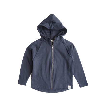 By Heritage Ziggy hood jacket solid navy blue
