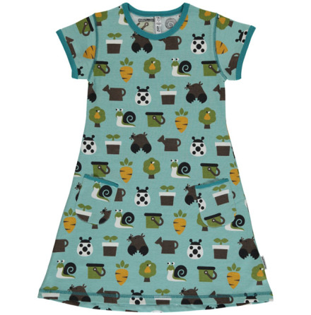 Maxomorra Dress SS Garden