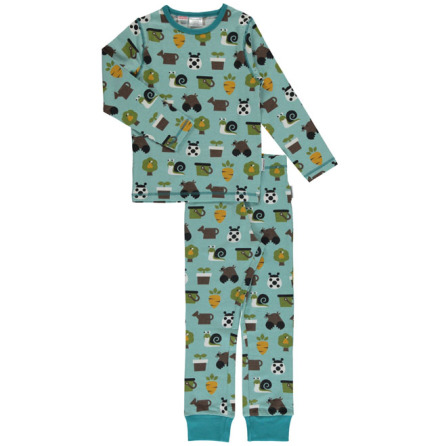 Maxomorra Pyjamas Set LS Garden