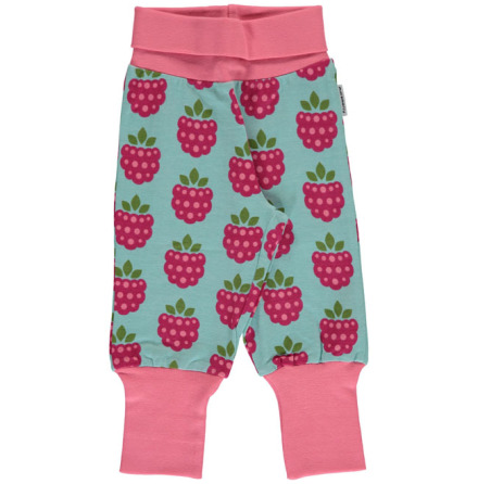 Maxomorra Rib Pants Raspberry