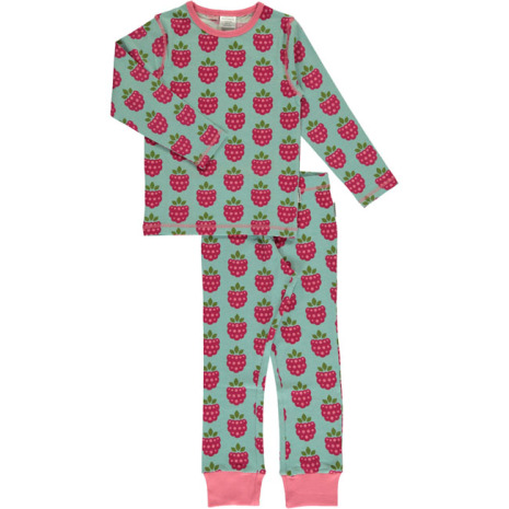 Maxomorra Pyjamas Set LS Raspberry