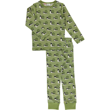 Maxomorra Pyjamas Set LS Snail