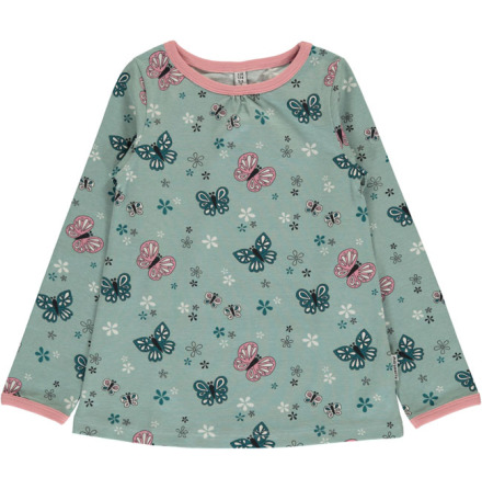 Maxomorra A-Line Top LS Butterfly